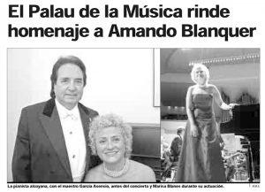 Amando Blanquer y Marisa Blanes. Palau de la Música de Valencia.