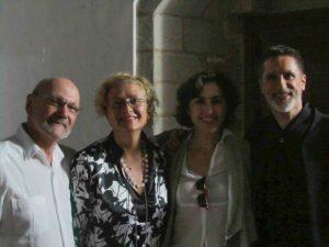 Luciano González Sarmiento, Marisa Blanes, Rosa Torres Pardo y Aurelio Viribay.